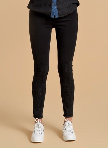 Fashion Friends Slim Fit Pantolon Siyah